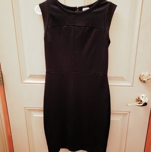Merona midi sleeveless black dress Womens size SP